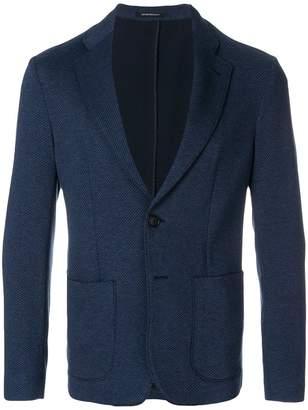 Emporio Armani unstructured patch-pocket blazer