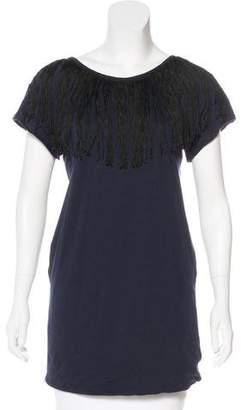 3.1 Phillip Lim Short Sleeve Embellished Top