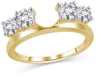 Zales 1 CT. T.W. Diamond Four Stone Solitaire Enhancer in 14K Gold