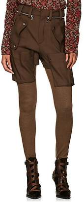 Chloé Women's Wool Cargo Leggings - Khaki