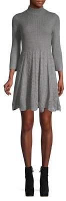 Eliza J Petite Ribbed Fit-&-Flare Dress