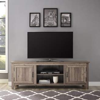 """URBAN RESEARCH Manor Park 70"""" Modern FarmhouseTV Stand Storage Console with Side Bead board and Center Shelving - Grey Wash"""