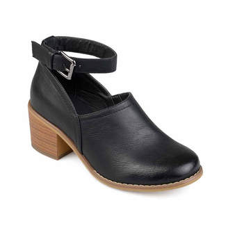 Journee Collection Womens Zhara Booties Block Heel Buckle