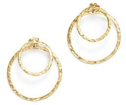 Bloomingdale's 14K Yellow Gold Hammered Double Ring Drop Earrings - 100% Exclusive