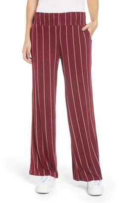 Love, Fire Stripe Knit Wide Leg Pants