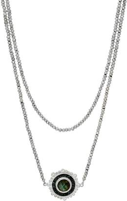 Shana Gulati Sterling Silver Zira Gemstone Bead Necklace