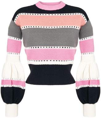 Self-Portrait striped knitted sweater