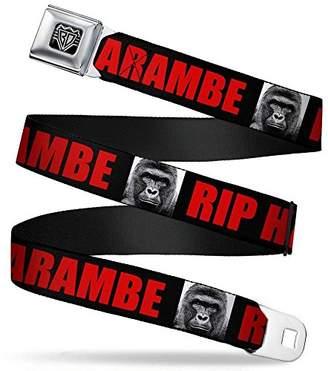 Buckle-Down Unisex-Adults Seatbelt Belt Harambe Regular Black/red
