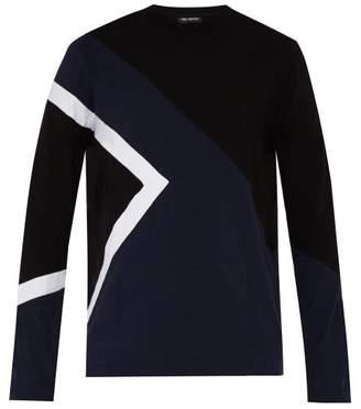 Neil Barrett New Modernist Long Sleeved Jersey Top - Mens - Navy Multi