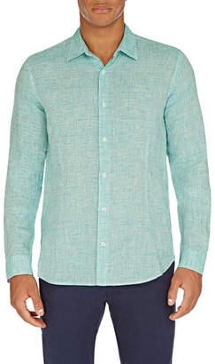 Orlebar Brown Men's Morton Tailored Linen Sport Shirt