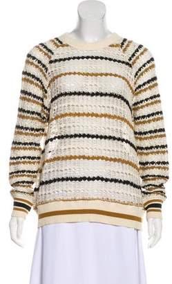 Etoile Isabel Marant Crew Neck Open Front Sweater