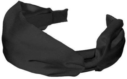 Wide Satin Headband - Black