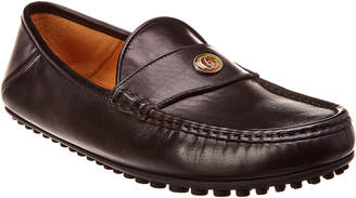 Gucci Logo Leather Moccasin