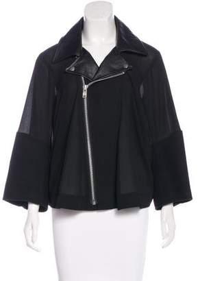 Junya Watanabe Leather-Accented Moto Jacket