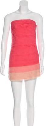 Alice + Olivia Strapless Ombré Dress