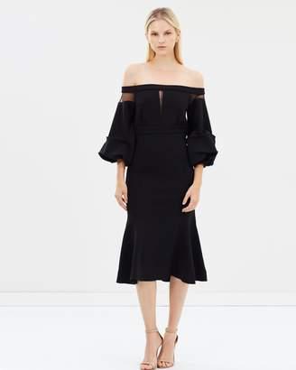 Asilio Volaire Crepe Off Shoulder Dress