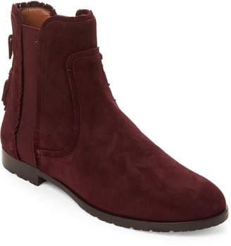 Aquazzura Fringe Beatle Flat Ankle Boots