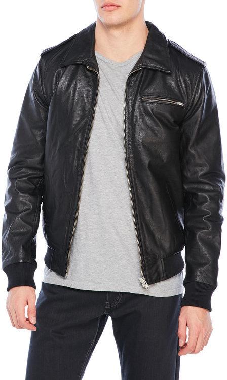 superdry Leather Benjamin Flight Jacket