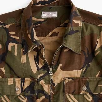 J.Crew Wallace & Barnes zip-front twill shirt-jacket in camo