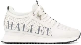 Mallet Footwear high top perforated sneakers