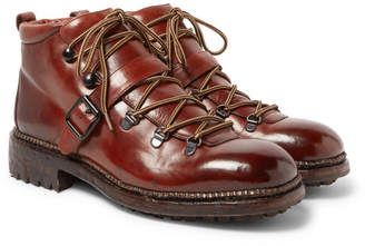 O'Keeffe Alvis Polished-Leather Boots