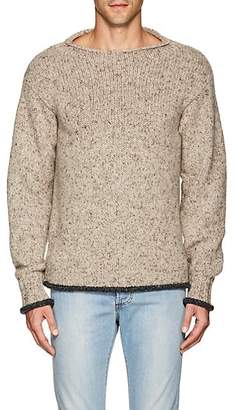 Isaia MEN'S MÉLANGE CASHMERE RELAXED SWEATER