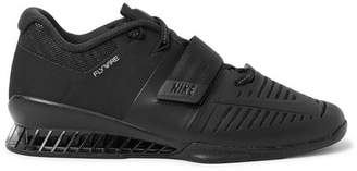 Nike Training - Romaleos 3 Faux Leather-trimmed Mesh Sneakers - Black