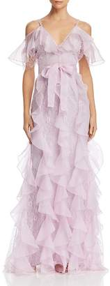 Alice McCall Baby Love Ruffled Cold-Shoulder Gown