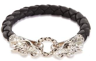 John Hardy 'Legends Naga' silver leather bracelet
