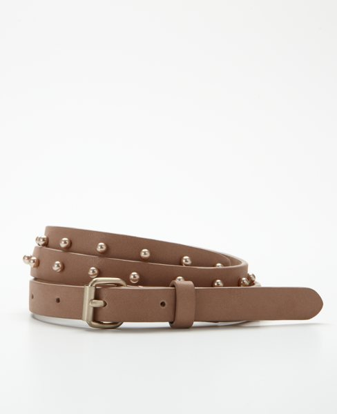 Pearl Stud Skinny Belt