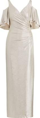 Ralph Lauren Jersey Cold-Shoulder Gown