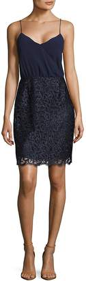 Laundry by Shelli Segal Women's Embellished Wrap Dress