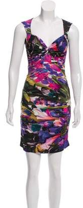 Nicole Miller Printed Bodycon Dress