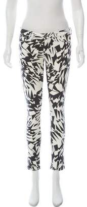IRO Low-Rise Printed Jeans