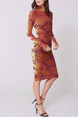 Amanda Uprichard Demure Burnout Dress