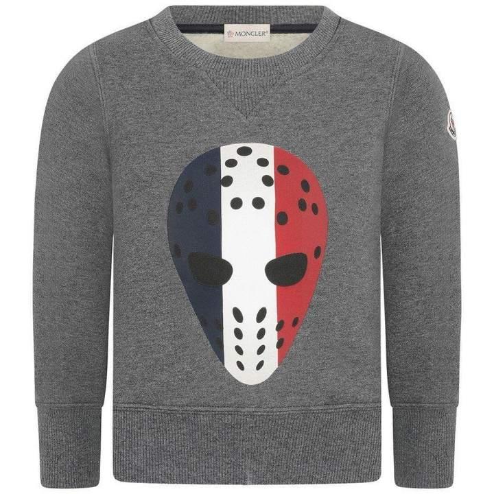 MonclerBoys Grey Hockey Mask Sweater