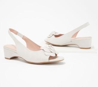 Taryn Rose Sling-Back Heeled Sandals with Rose Detail - Neva