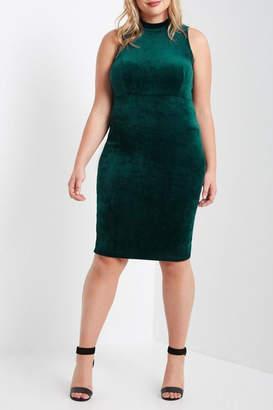 MaiTai Green Velvet Dress