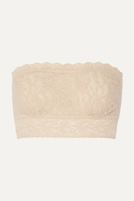 Hanky Panky - Bandeau Stretch-lace Soft-cup Bra - Neutral