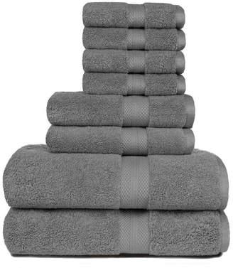 American Dawn Heirloom Manor Sarajane 800 Gsm Solid 8 Piece Bath Towel Set Bedding