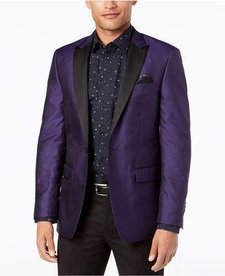 Tallia Men Slim-Fit Purple Medallion Dinner Jacket