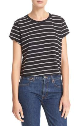 RE/DONE 'Originals' Stripe Boxy Cotton Tee