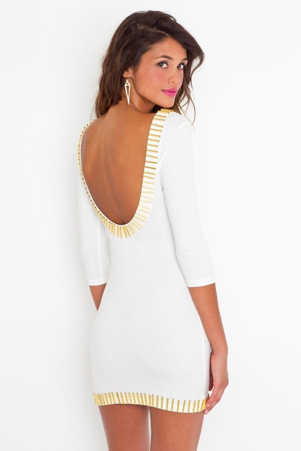Nasty Gal Gold Rush Dress