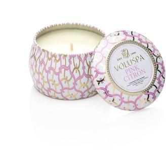 Voluspa Mini Decorative Tin Candle - Pink Citron