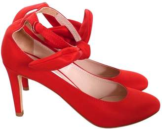Carven Red Cloth Heels