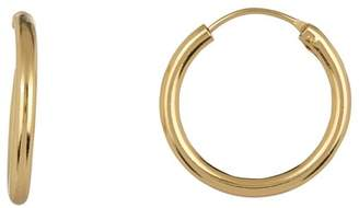 Argentovivo 18K Gold Plated Sterling Silver Endless Chunky Hoop Earrings