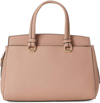 Moda Luxe Natural Boston Faux Leather Satchel