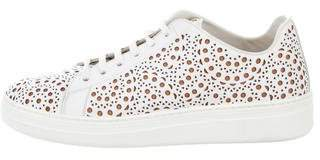 Alaia Leather Laser Cut Sneakers