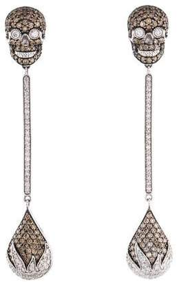 86668dfb3 14K Diamond Skull Drop Earrings