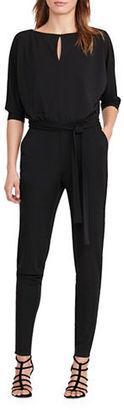 Lauren Ralph Lauren Roundneck Bracelet-Sleeve Jumpsuit $155 thestylecure.com
